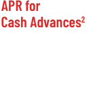 APR for Cash Advances