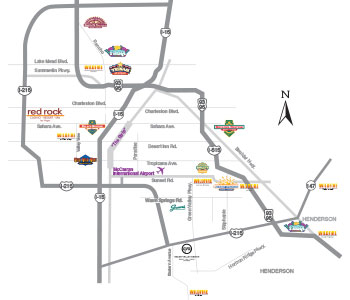 Station Casinos Property Map