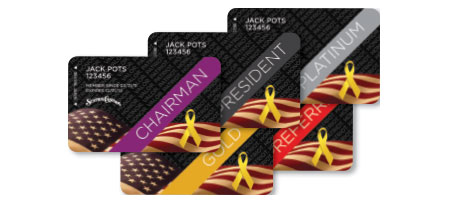 Military Edition Boarding Pass Players Club Card