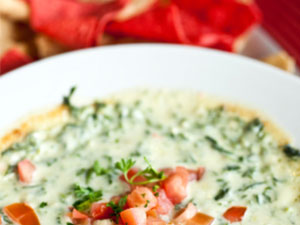 Cafe Spinach and Artichoke Dip